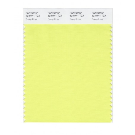 Pantone 12-0740 TCX Swatch Card Limelight