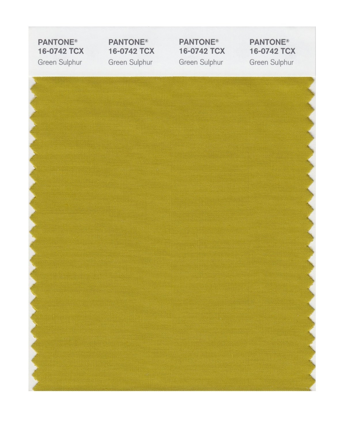 Pantone 16-0742 TCX Swatch Card Green Sulphur