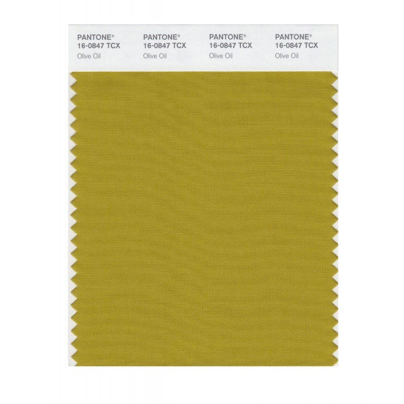 Pantone 16-0847 TCX Swatch Card Olive Oil