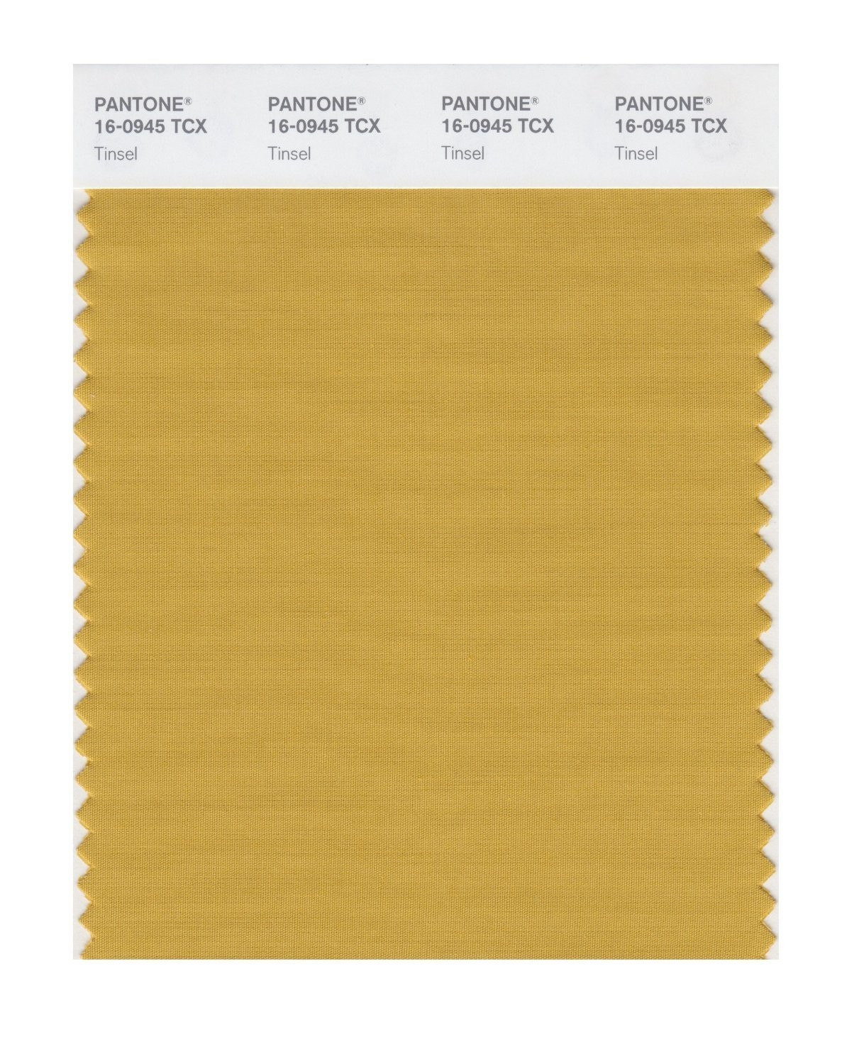 Pantone 16-0945 TCX Swatch Card Tinsel