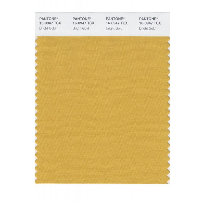 Pantone 16-0947 TCX Swatch Card Bright Gold