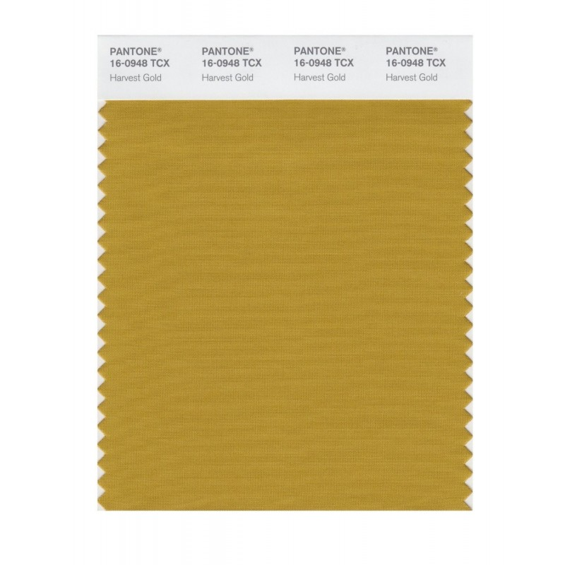 Pantone 16-0948 TCX Swatch Card Harvest Gold