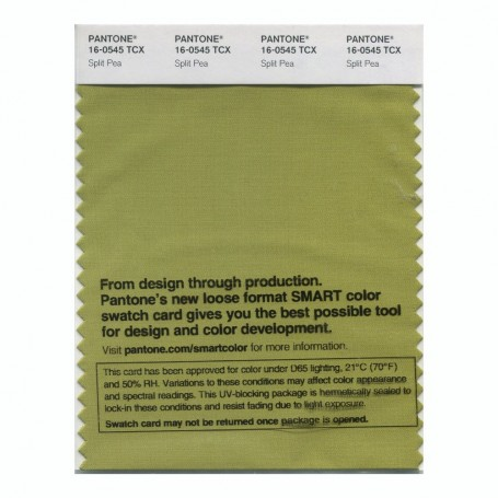 Pantone 16-0545 TCX Swatch Card Split Pea