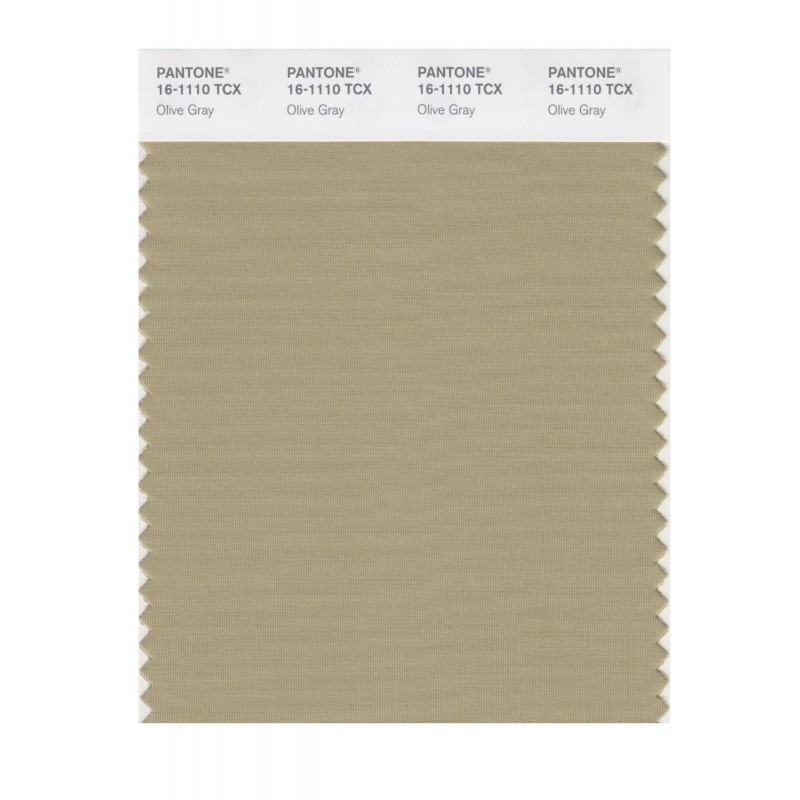 Pantone 16-1110 TCX Swatch Card Olive Gray