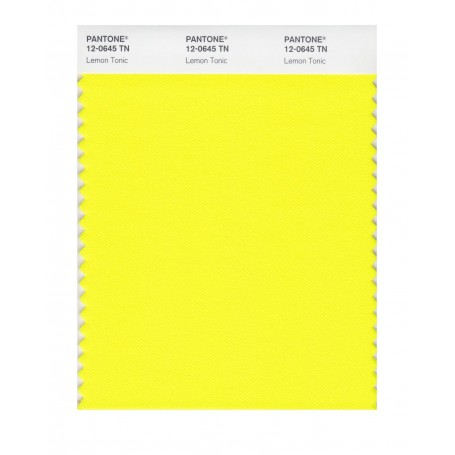 Pantone 12-0645 TN Lemon Tonic Nylon Brights Swatch