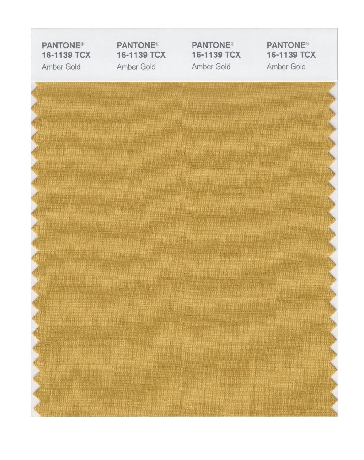 Pantone 16-1139 TCX Swatch Card Amber Gold