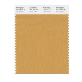 Pantone 16-1143 TCX Swatch Card Honey Yellow