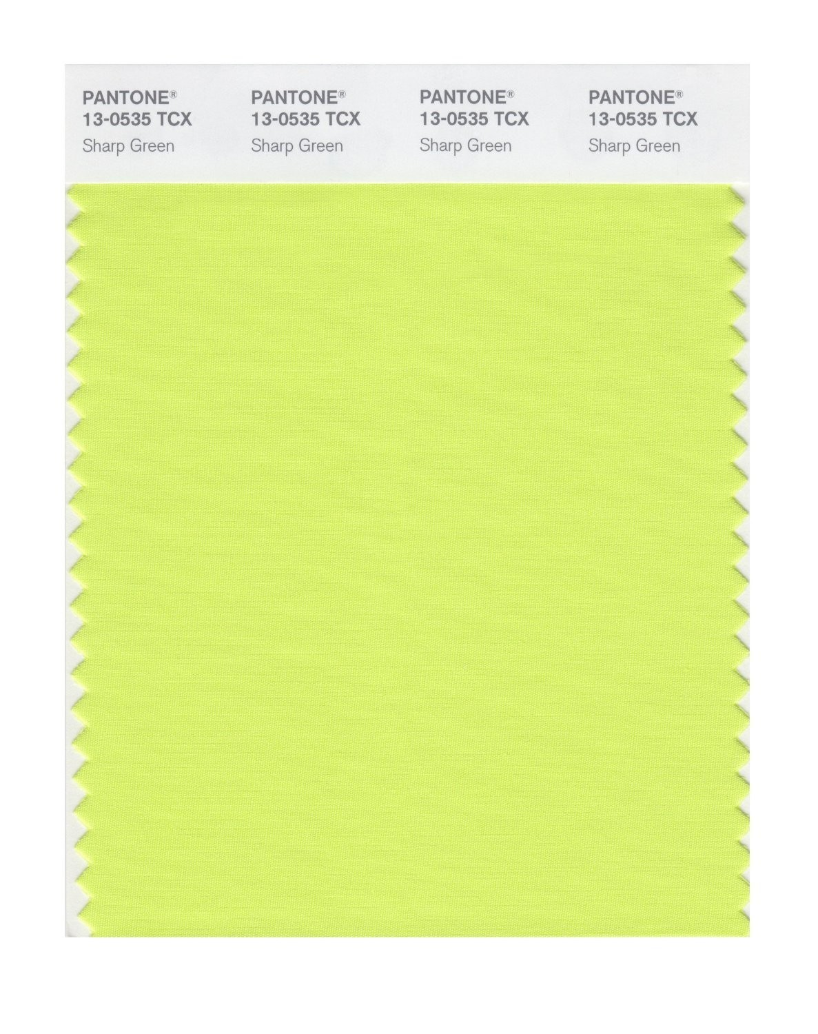 Pantone 13-0535 TCX Swatch Card Sharp Green