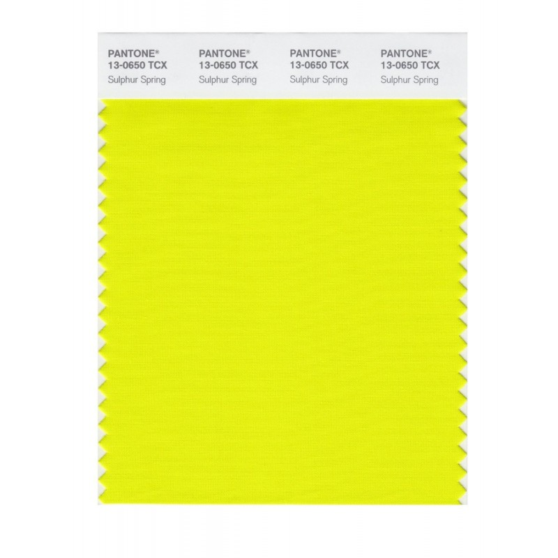Pantone 13-0644 TCX Swatch Card Golden Kiwi