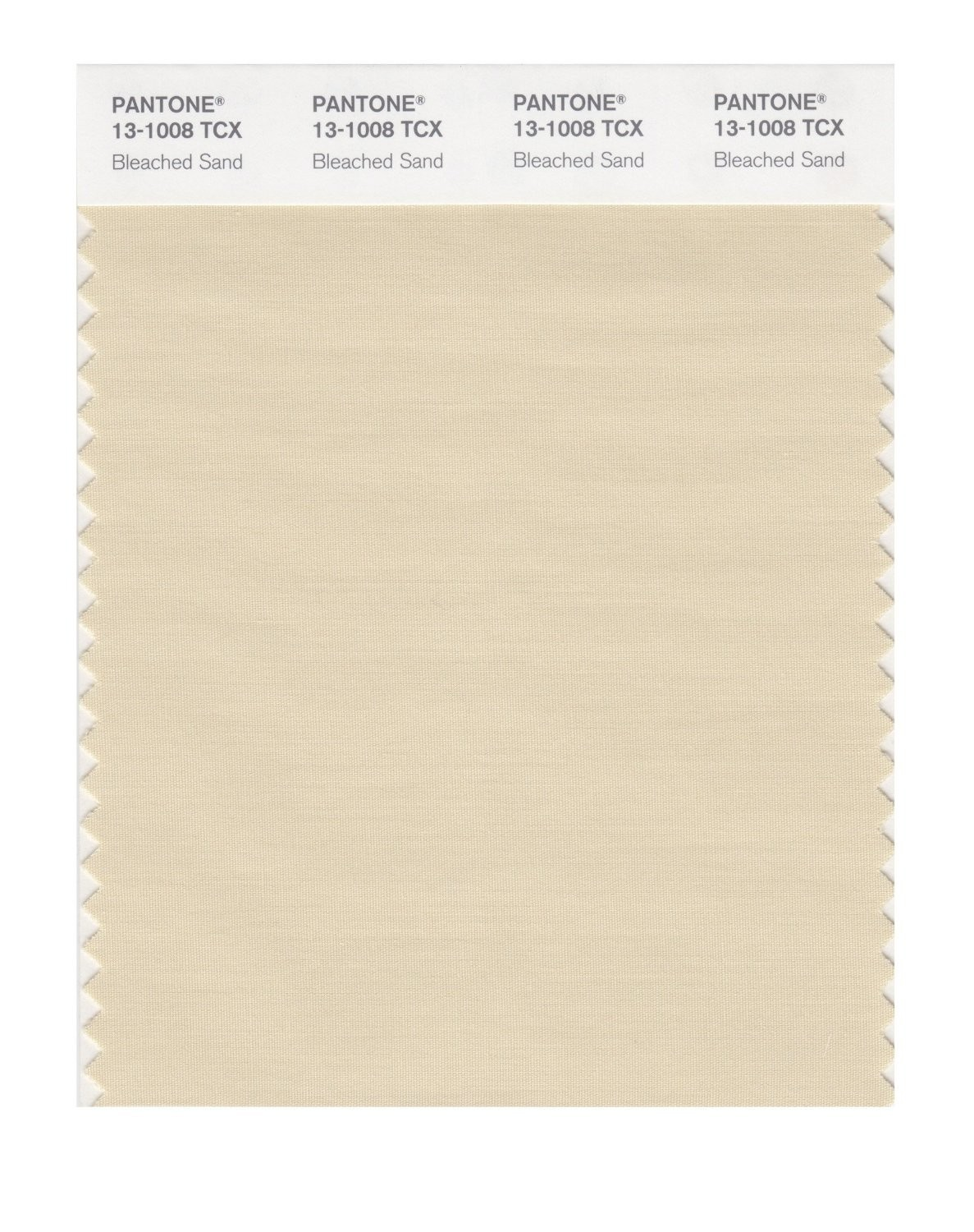 Pantone 13-1008 TCX Swatch Card Bleached Sand