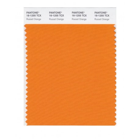 Pantone 16-1255 TCX Swatch Card Russett Orange