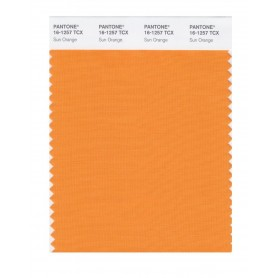 Pantone 16-1257 TCX Swatch Card Sun Orange
