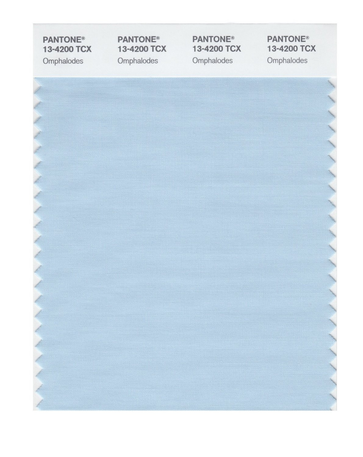 Pantone 13-4200 TCX Swatch Card Omphalodes