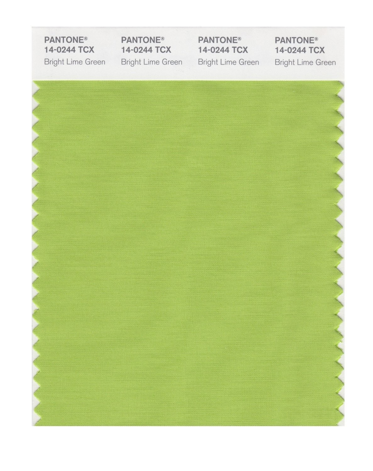 Pantone 14-0244 TCX Swatch Card Lime Green