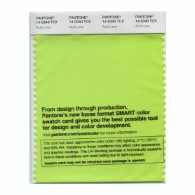 Pantone 14-0340 TCX Swatch Card Acid Lime