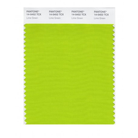 Pantone 14-0452 TCX Swatch Card Lime Green