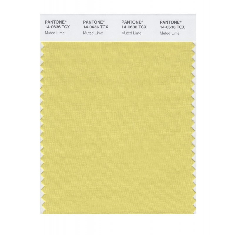 Pantone 14-0636 TCX Swatch Card Muted Lime