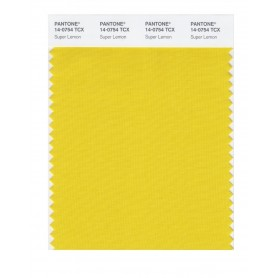 Pantone 14-0754 TCX Swatch Card Super Lemon