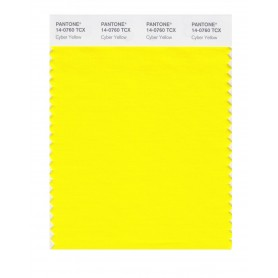 Pantone 14-0760 TCX Swatch Card Cyber Yellow