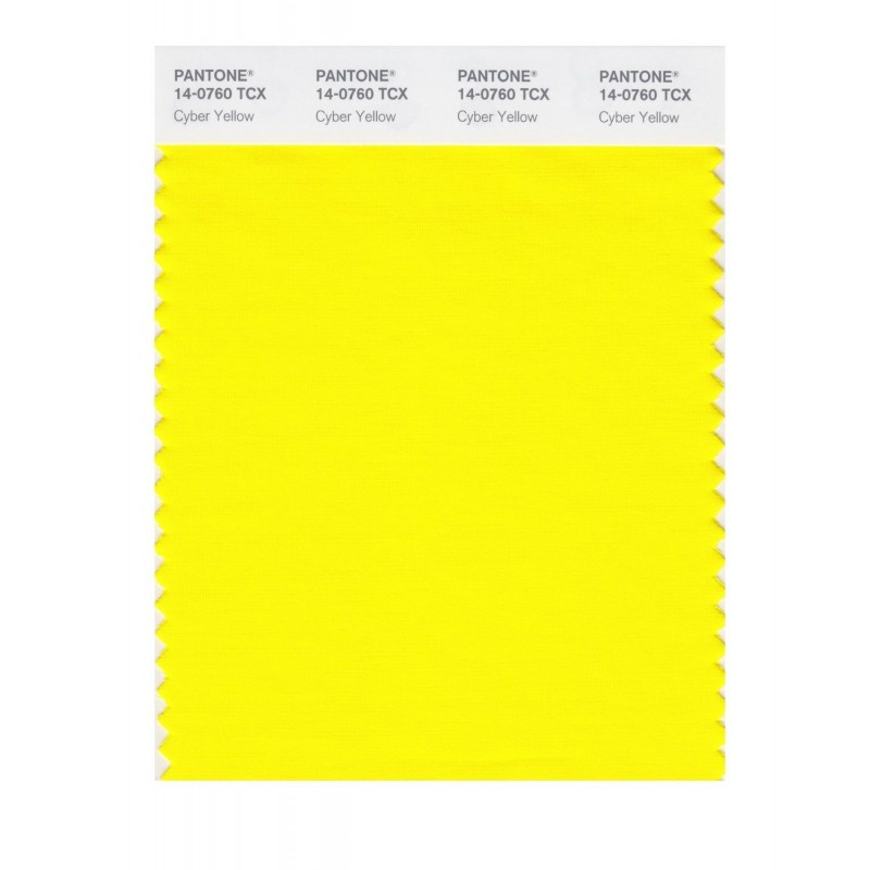 Pantone 14-0760 TCX Swatch Card Cyber Yellow Buy in india