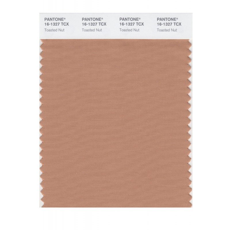 Pantone 16-1327 TCX Swatch Card Toasted Nut