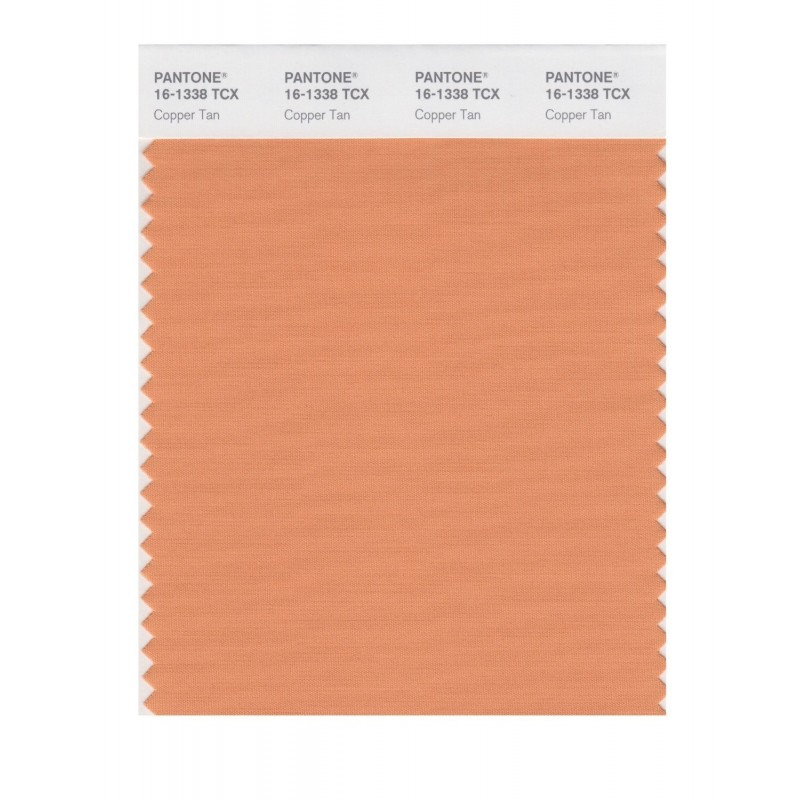 Pantone 161338 TCX Swatch Card Coral Gold