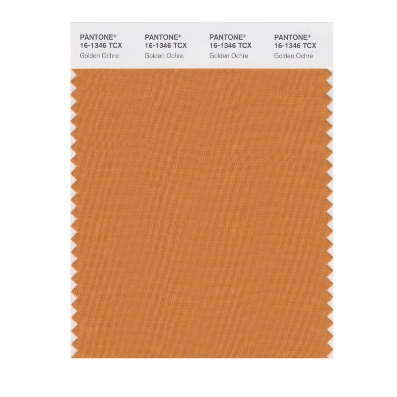Pantone 16-1346 TCX Swatch Card Golden Ochre