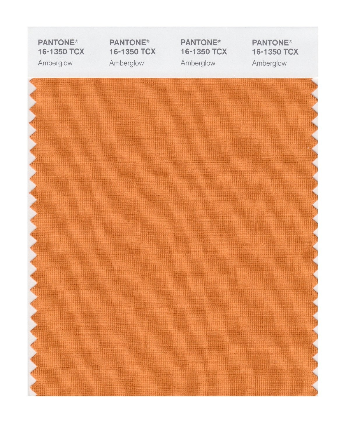 Pantone 16-1350 TCX Swatch Card Amberglow