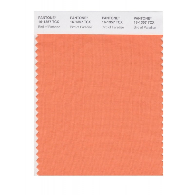 Pantone 16-1357 TCX Swatch Card Bird Of Paradise