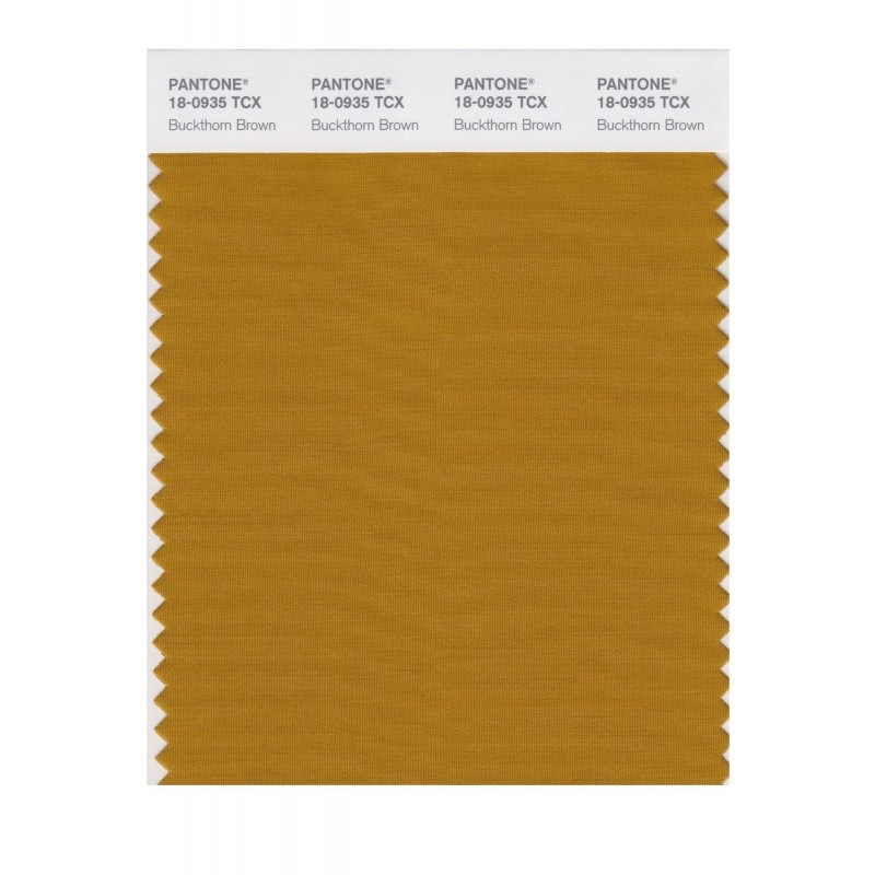 Pantone 18-0935 TCX Swatch Card Buckthorn Brown