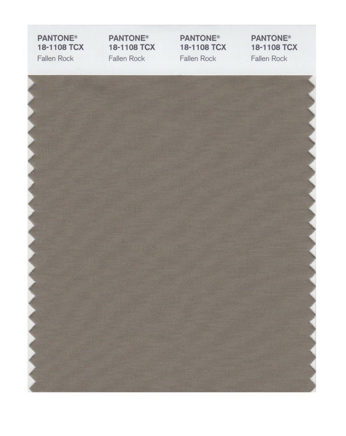 Pantone 18-1108 TCX Swatch Card Fallen Rock