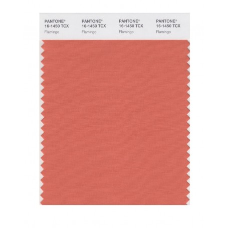 Pantone 16-1450 TCX Swatch Card Flamingo