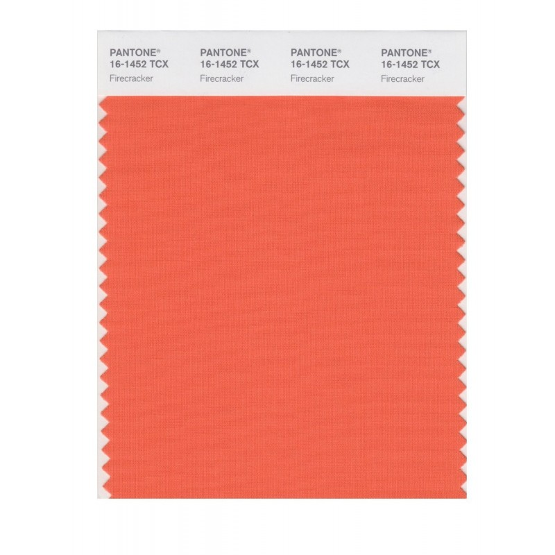 Pantone 16-1452 TCX Swatch Card Firecracker