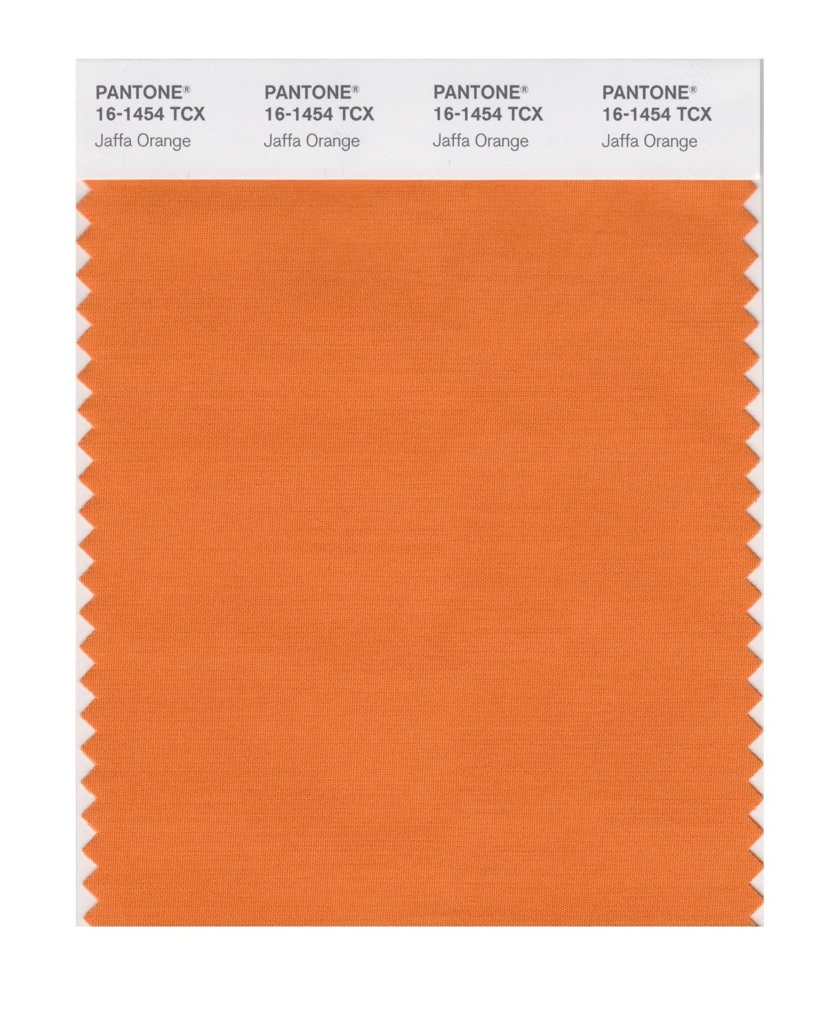 Pantone 16-1454 TCX Swatch Card Jaffa Orange