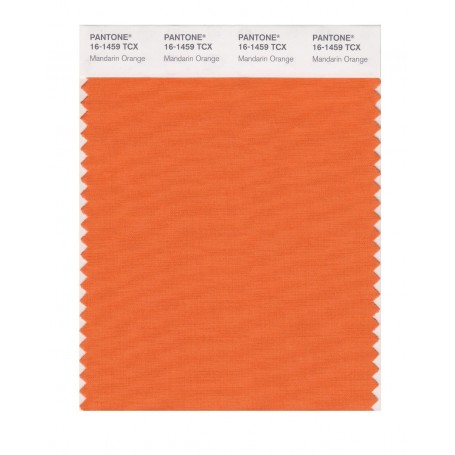 Pantone 16-1459 TCX Swatch Card Mandarin Orange