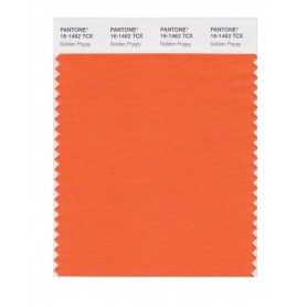 Pantone 16-1462 TCX Swatch Card Golden Poppy
