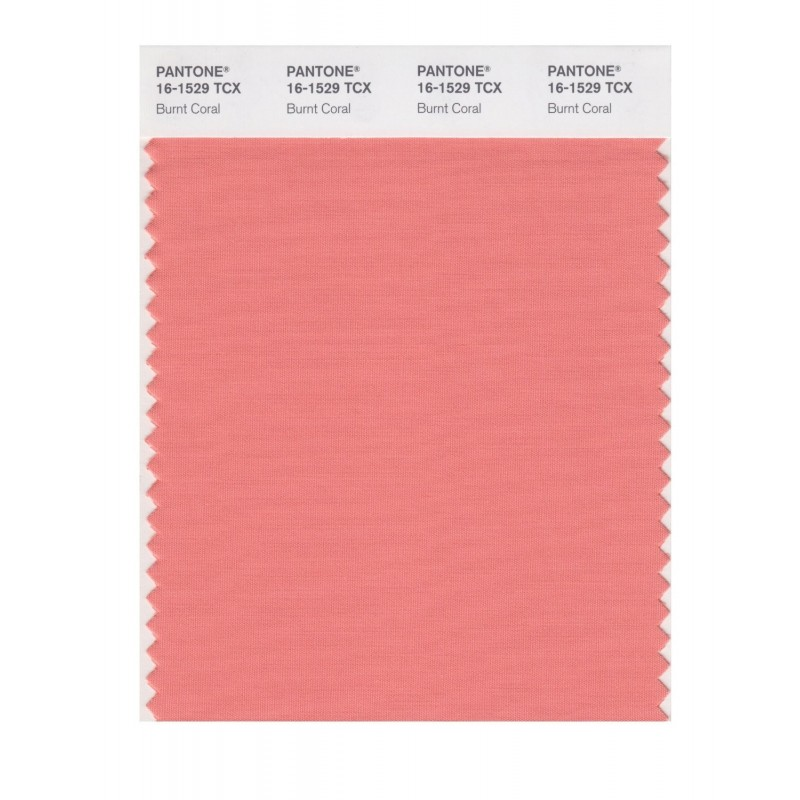 Pantone 16-1529 TCX Swatch Card Burnt Coral