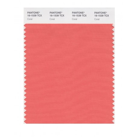 Pantone 16-1539 TCX Swatch Card Coral