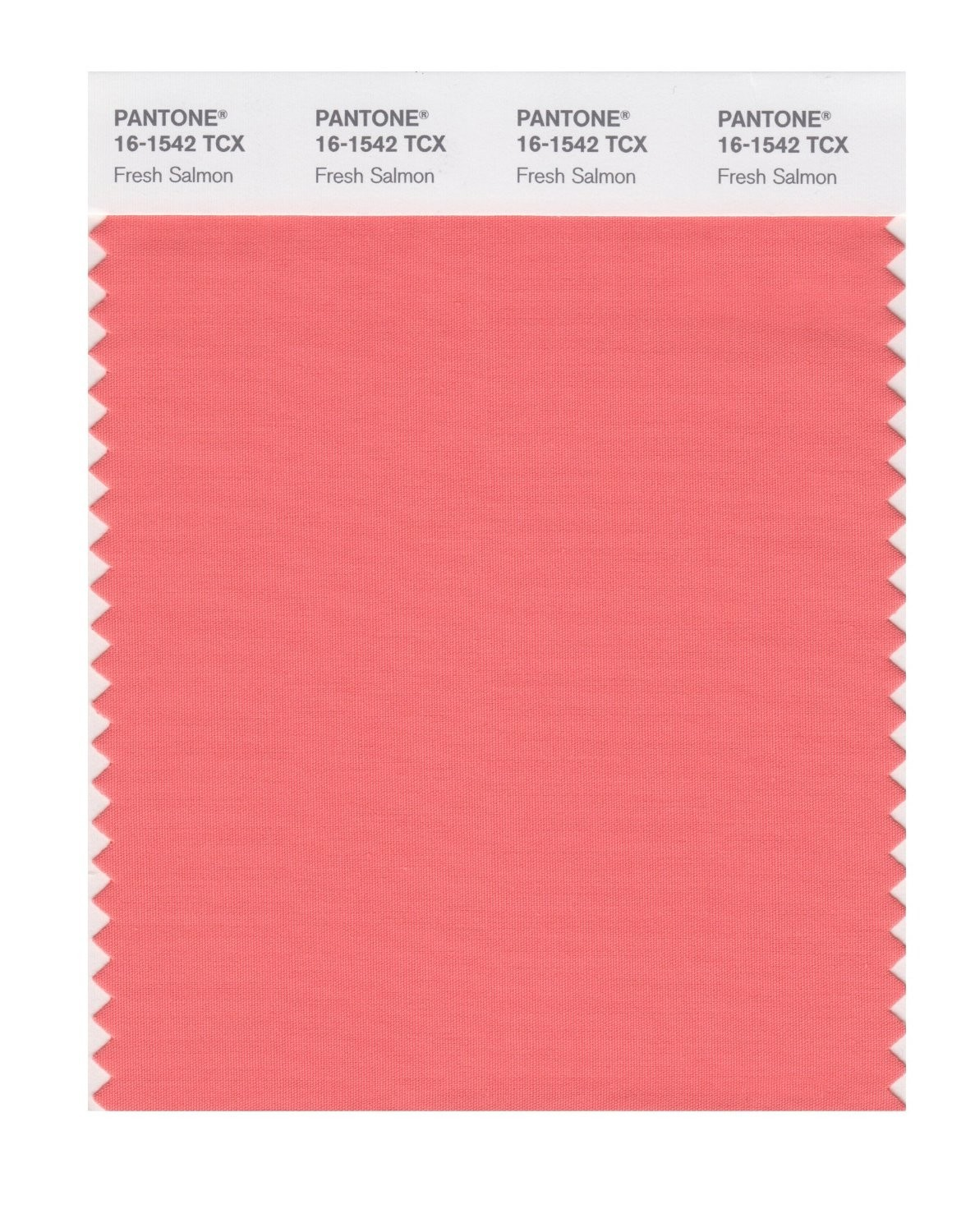 Pantone 16-1542 TCX Swatch Card Fresh Salmon