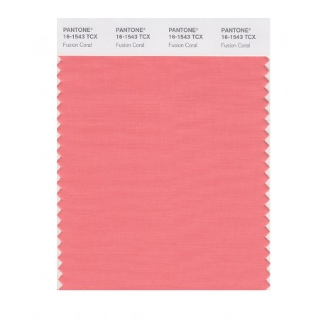 Pantone 16-1543 TCX Swatch Card Fusion Coral