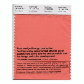 Pantone 16-1545 TCX Swatch Card Coral Quartz