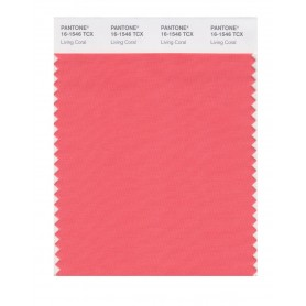 Pantone 16-1546 TCX Swatch Card Living Coral