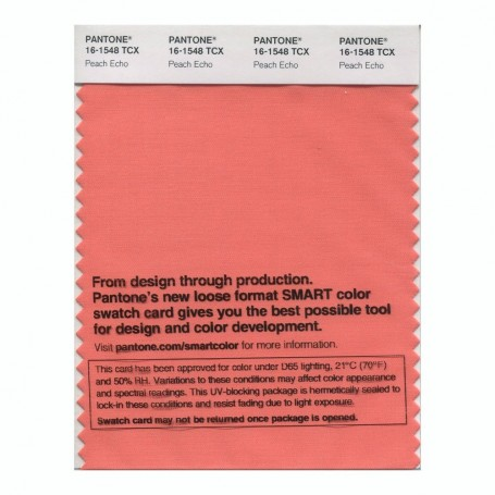 Pantone 16-1548 TCX Swatch Card Peach Echo