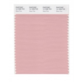 Pantone 14-1508 TCX Swatch Card Silver Pink