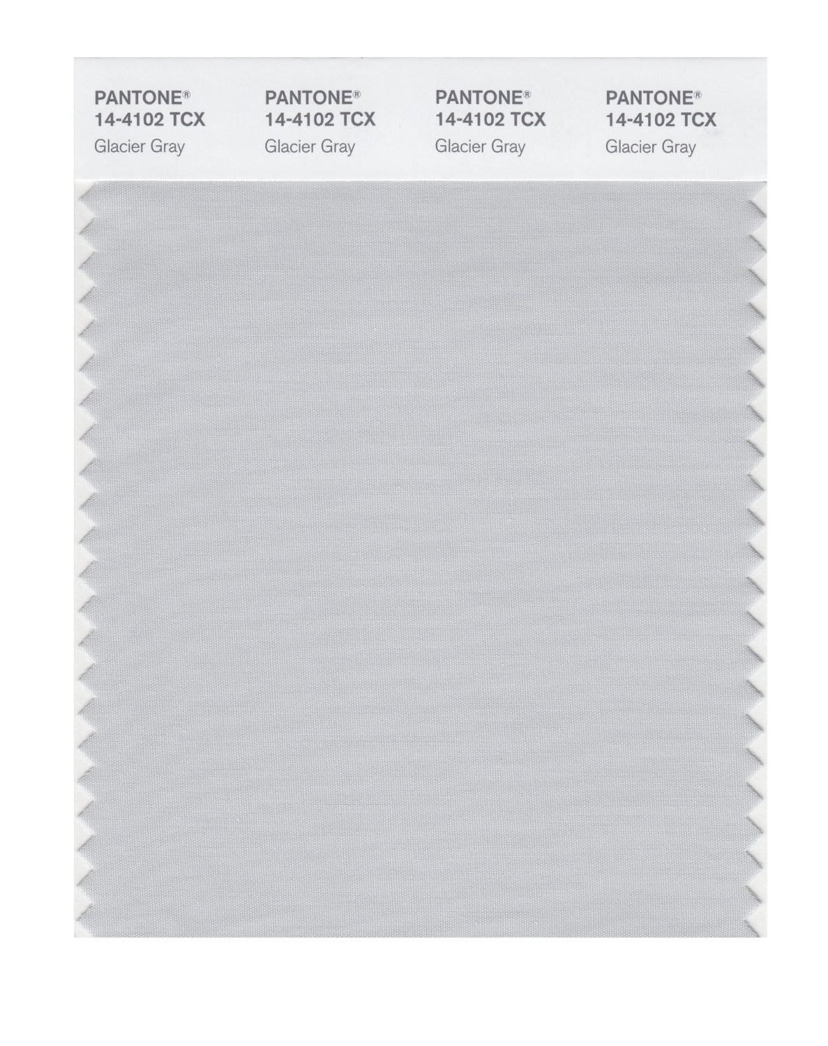Pantone 14-4102 TCX Swatch Card Glacier Gray