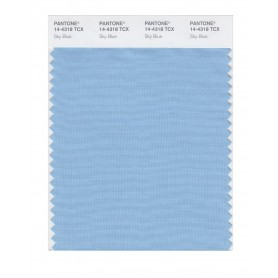 Pantone 14-4318 TCX Swatch Card Sky Blue