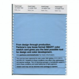 Pantone 14-4320 TCX Swatch Card Baltic Sea