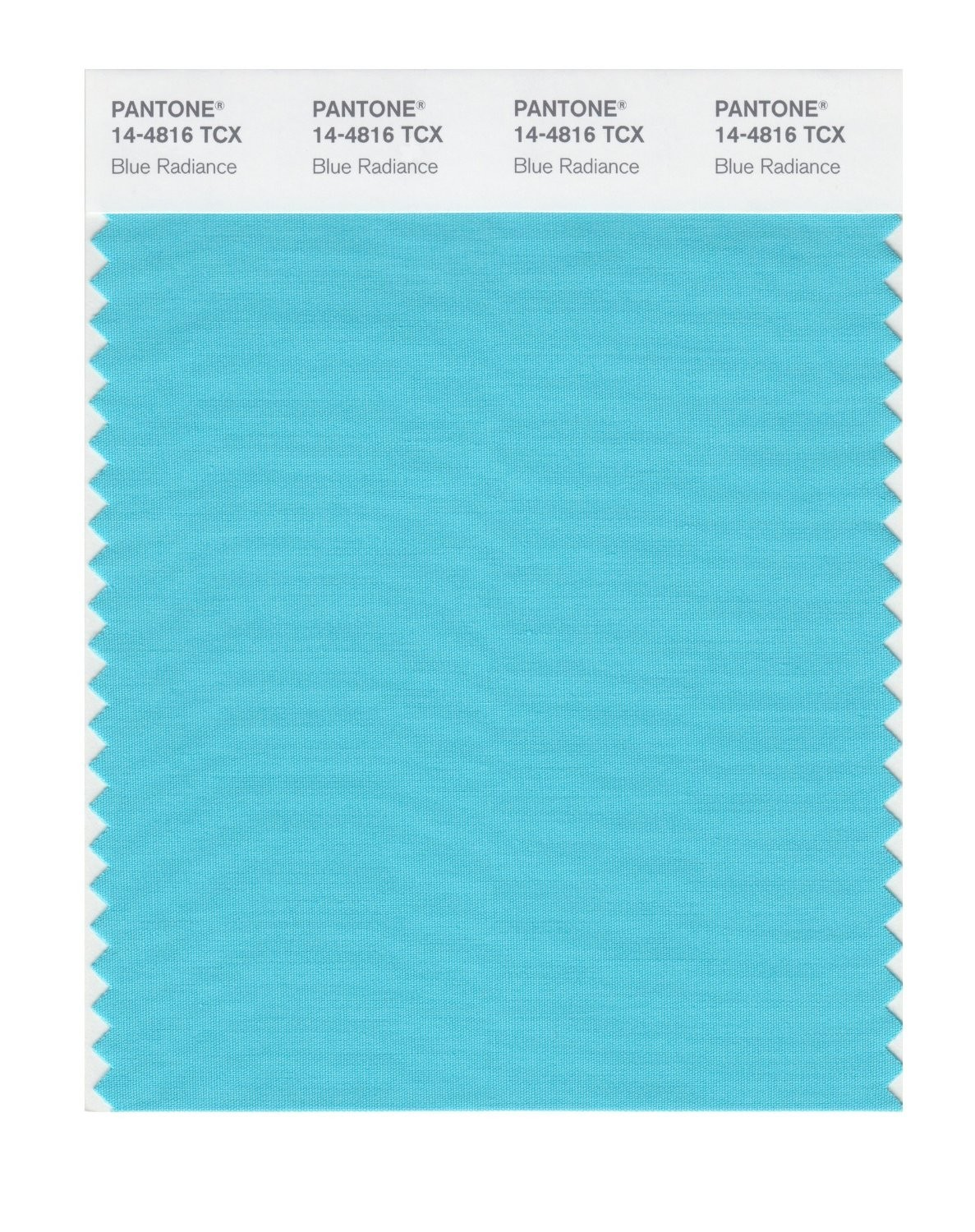 Pantone 14-4816 TCX Swatch Card Blue Radiance