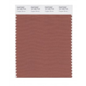 Pantone 18-1336 TCX Swatch Card Copper Brownl