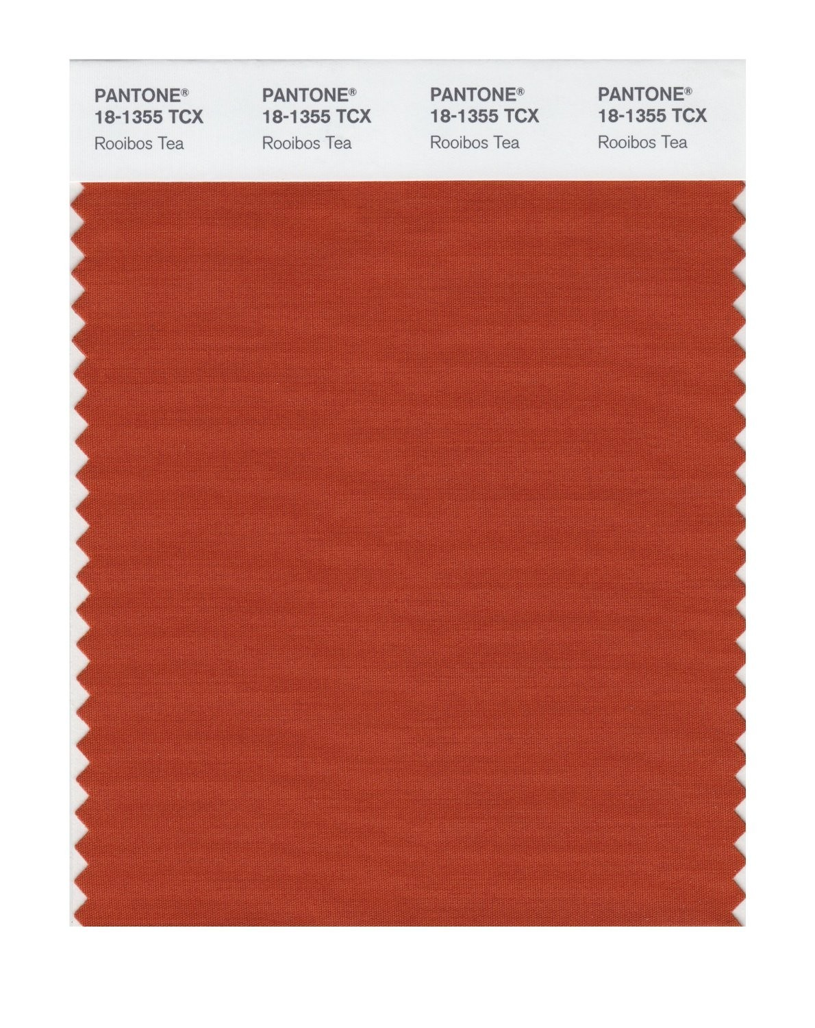 Pantone 18-1355 TCX Swatch Card Rooibos Tea